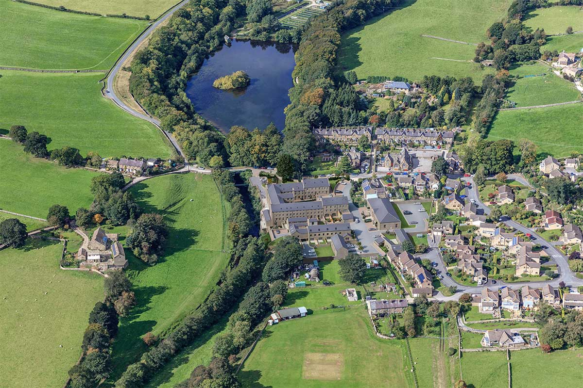 Aerial image of Glasshouses Mill